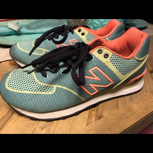 huge selection of 0ead8 2a9d7 New Balance 574 Elite edition women's Neon
